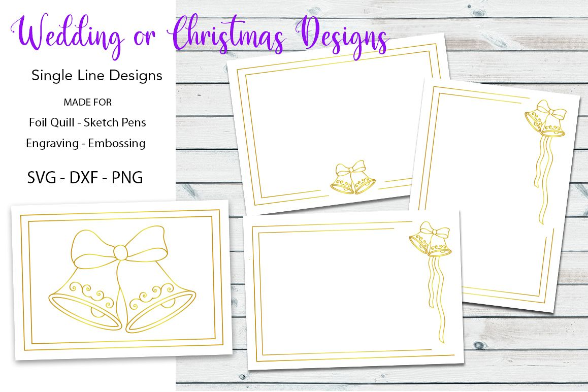 Wedding|Christmas Designs for Foil Quill|Engraving example image 1