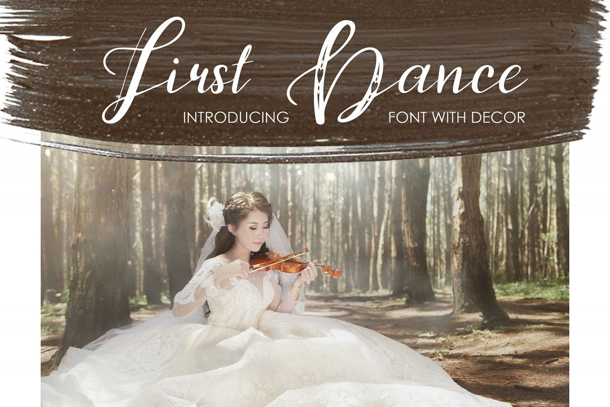 First Dance - font example image 1