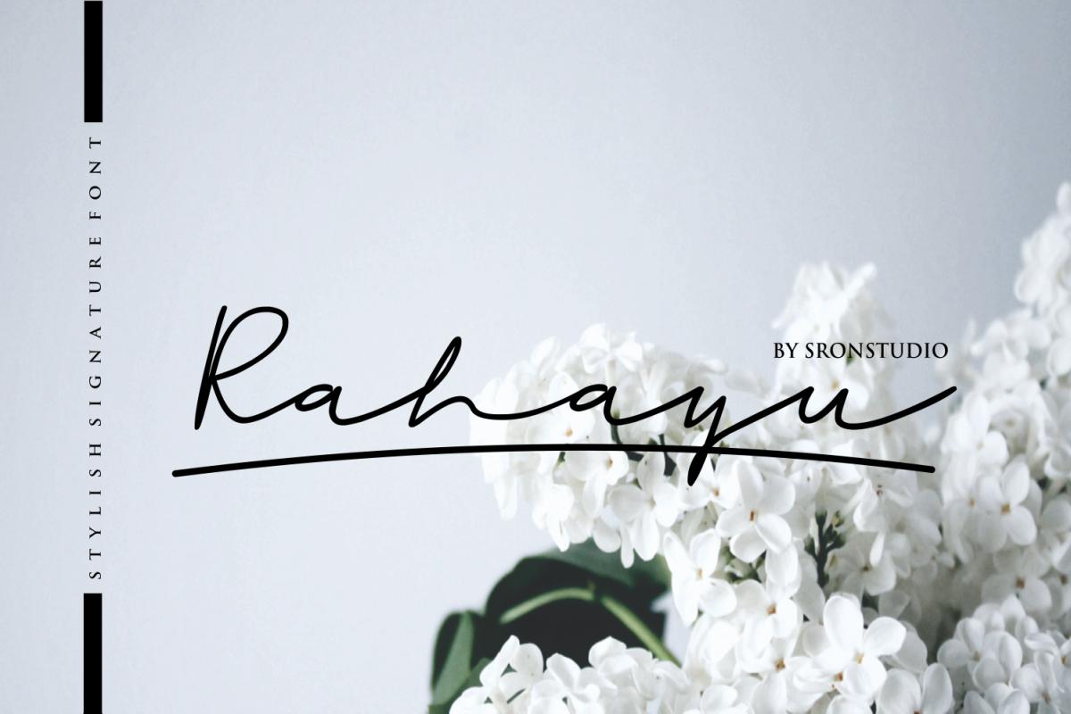 Rahayu -  A stylish signature font example image 1