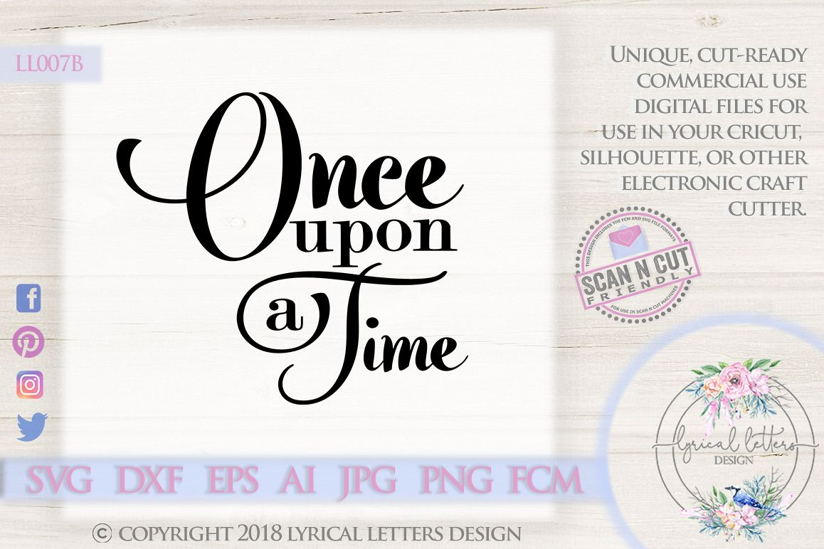 Once Upon a Time Fairy Tale Wedding SVG DXF LL007B example image 1