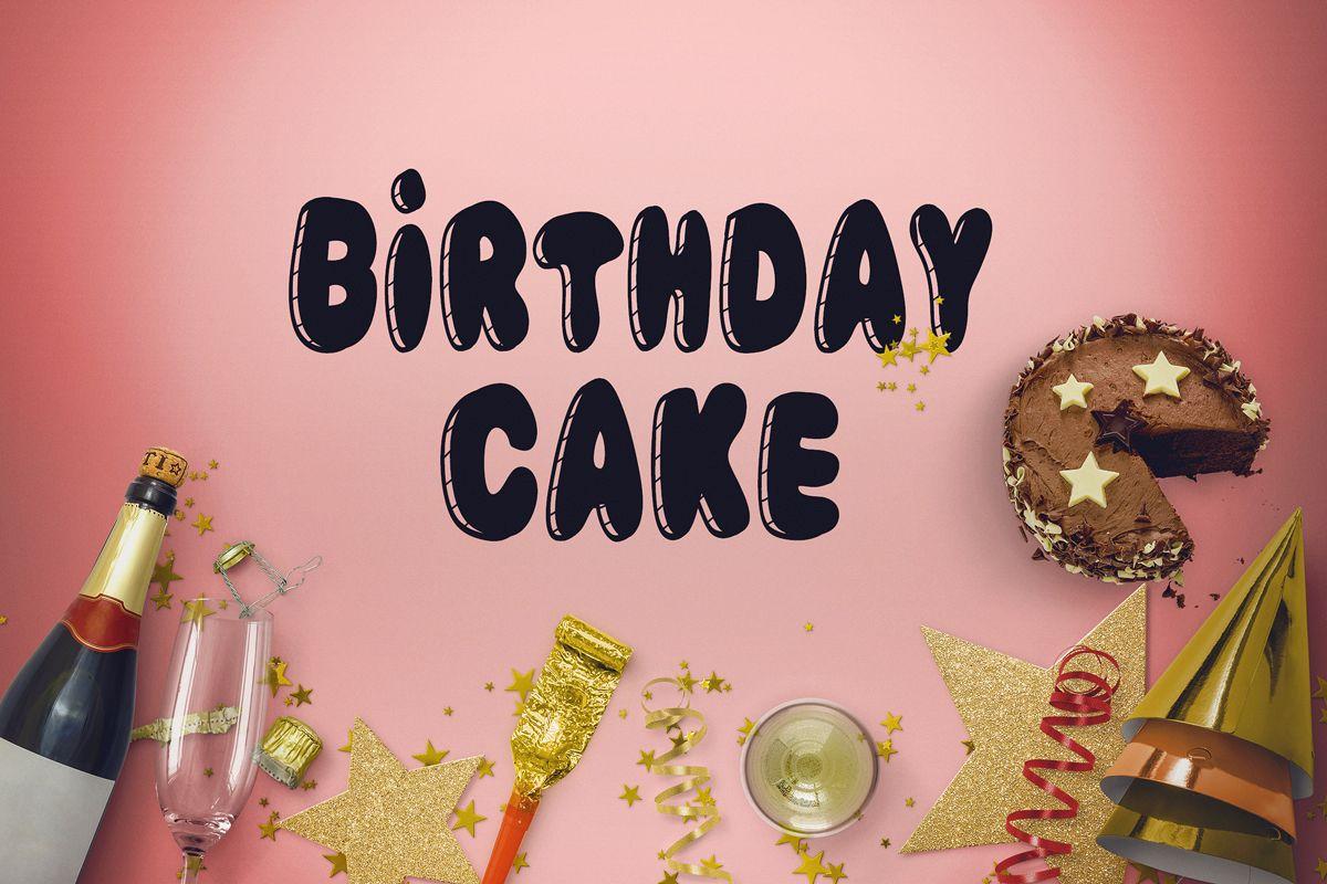 Birthday Cake Font example image 1