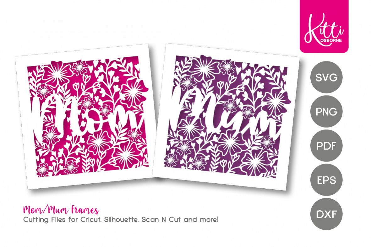 Mom/Mum Papercut Frame example image 1