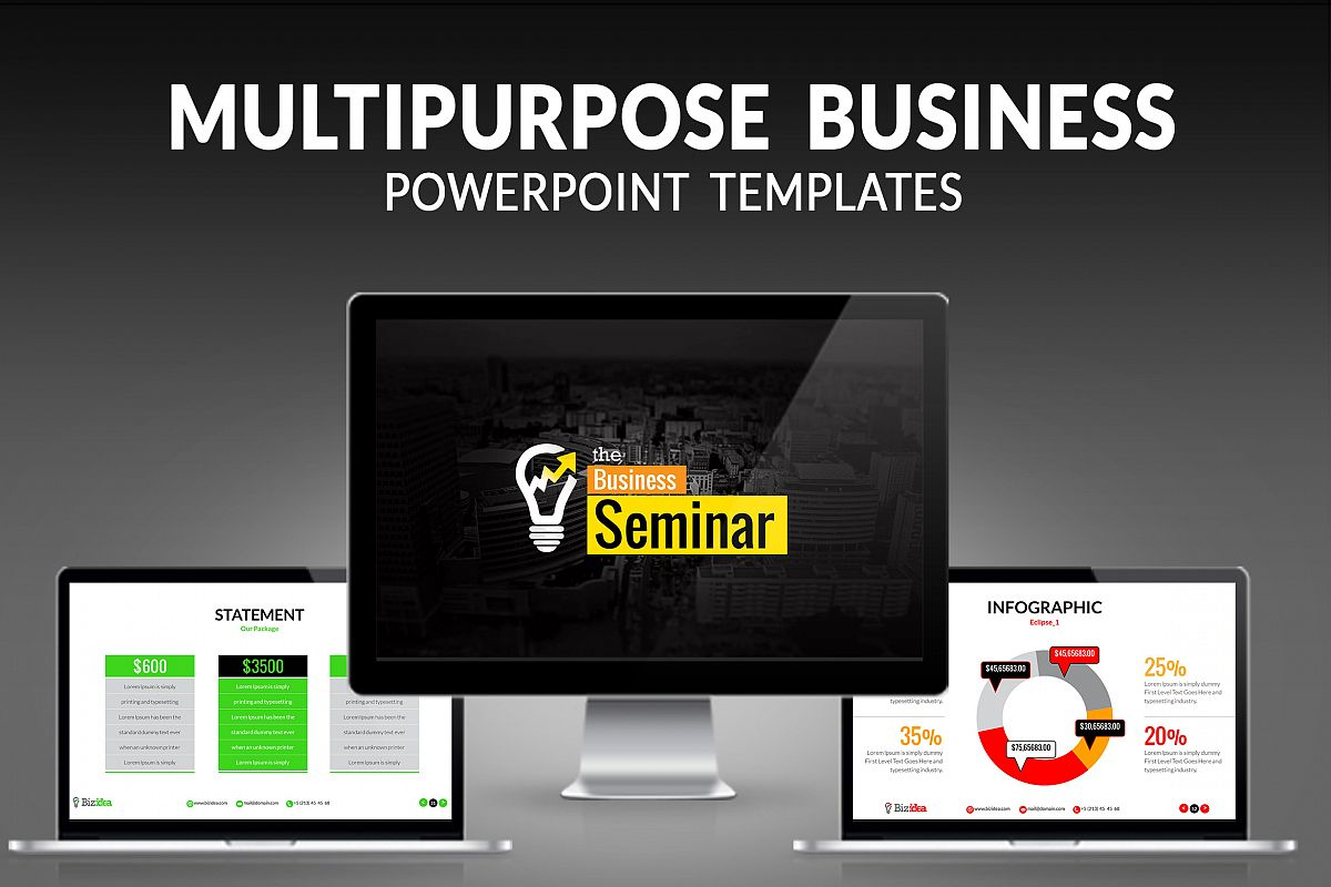 Multipurpose Business Presentation example image 1