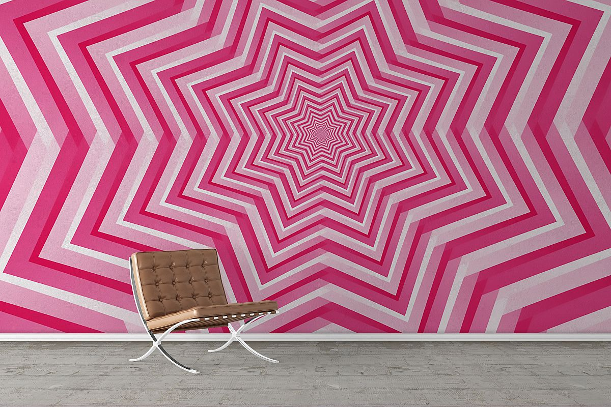 Abstract Pink Geometric Design Background example image 1