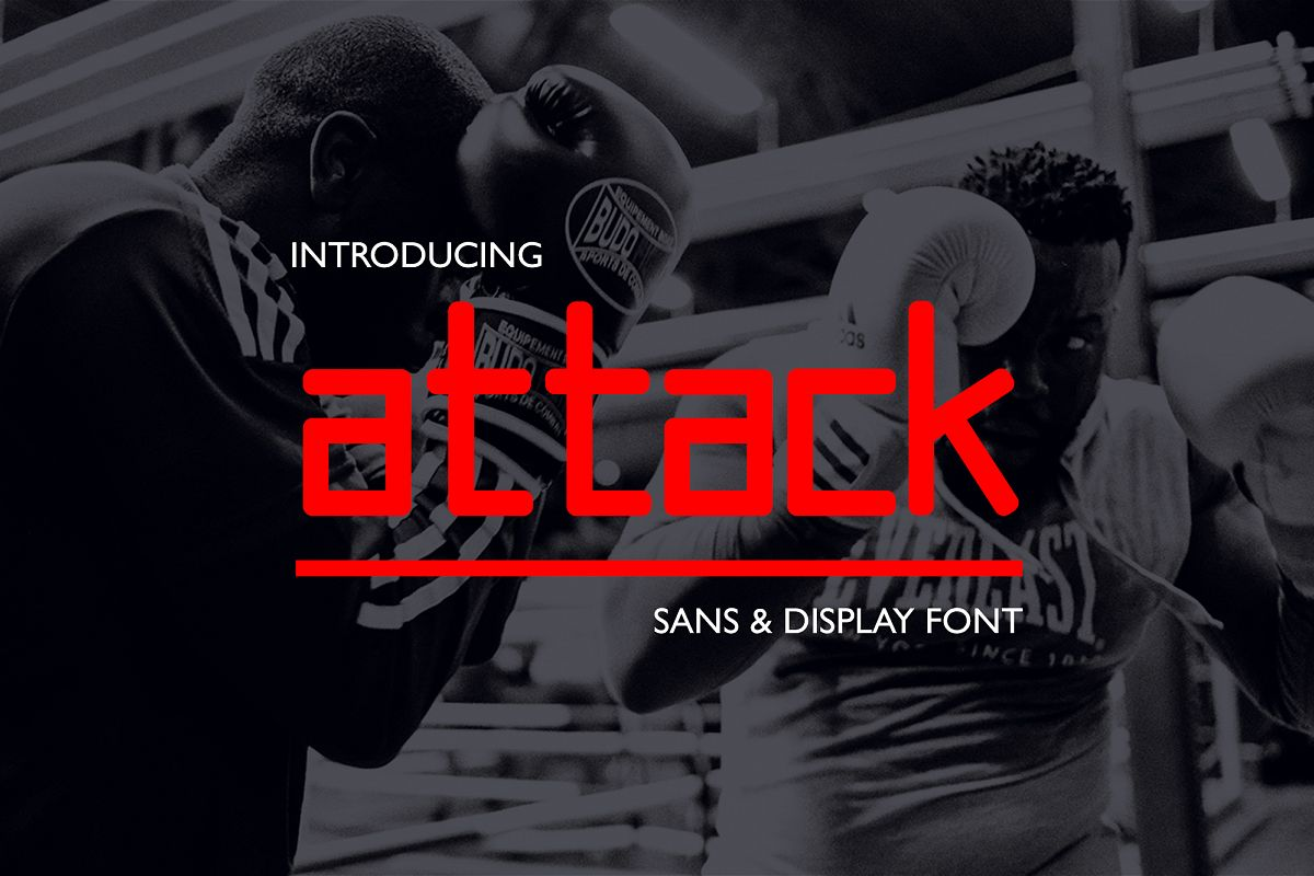 Attack // Display & Sans Font example image 1