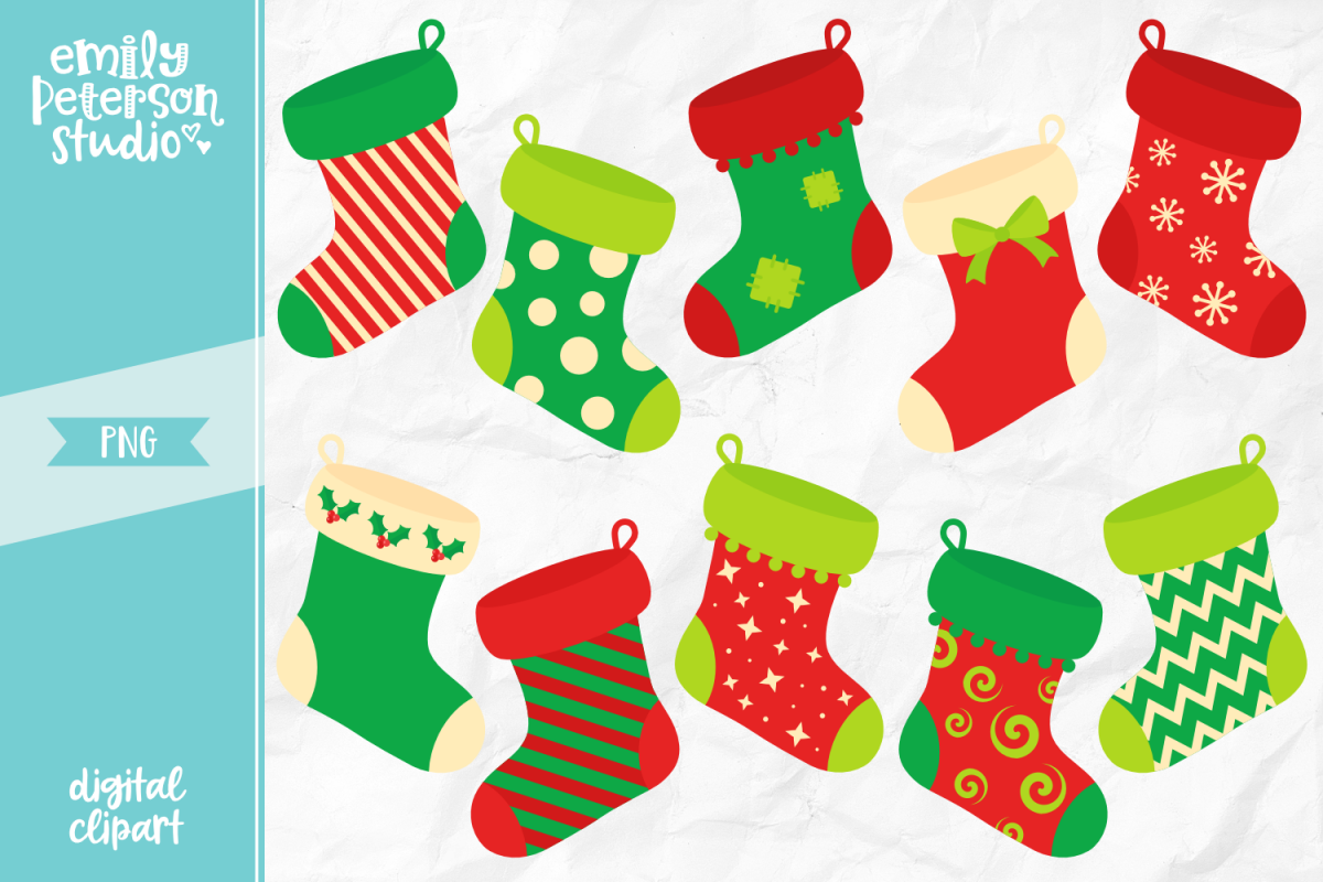 Christmas Stockings Png.Christmas Stockings Clipart Illustration Png