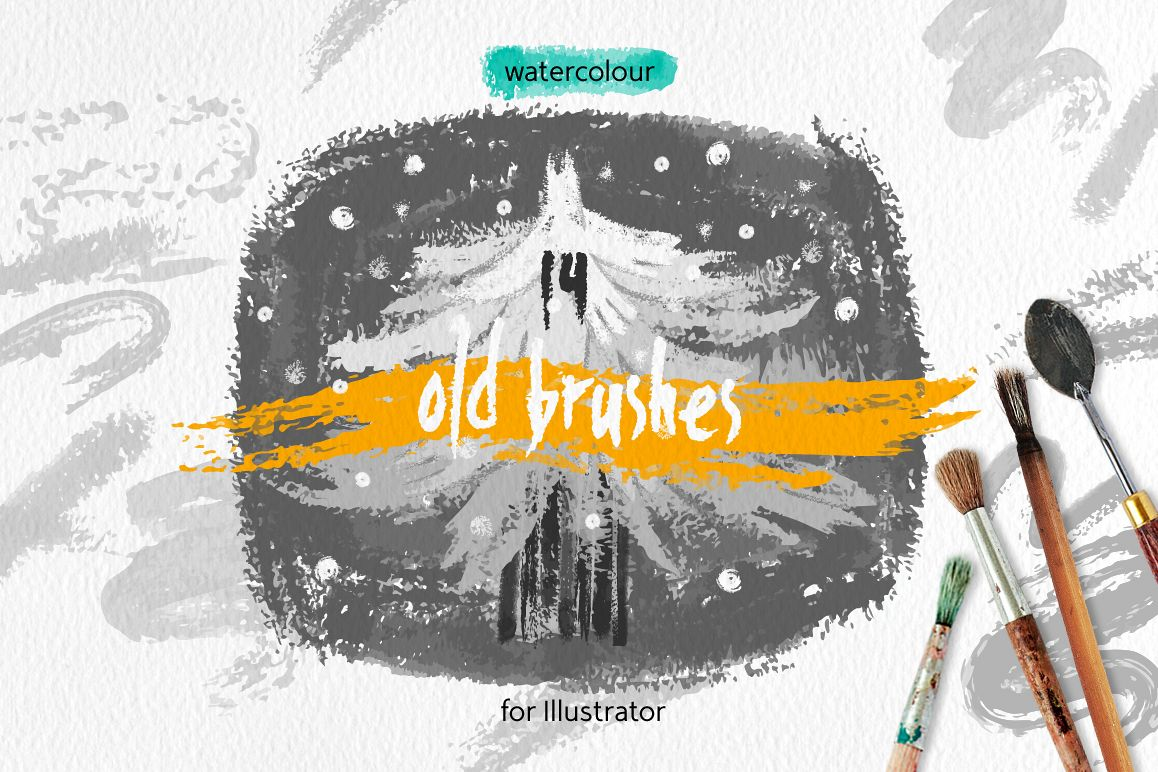 Old Brushes for Illustrator example image 1