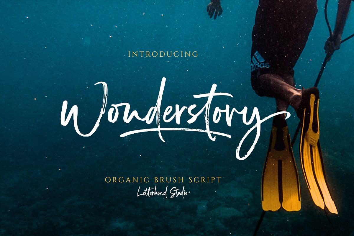 Wonderstory - Brush Script example image 1