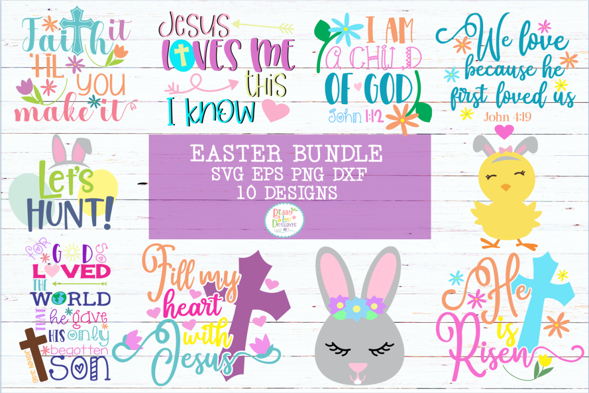 EASTER SVG BUNDLE Cutting Files example image 1