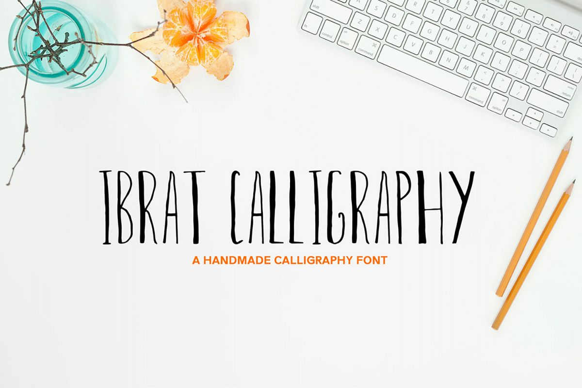Ibrat Calligraphy Font example image 1