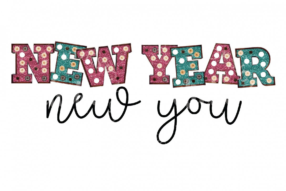 New Year Sublimation Design example image 1