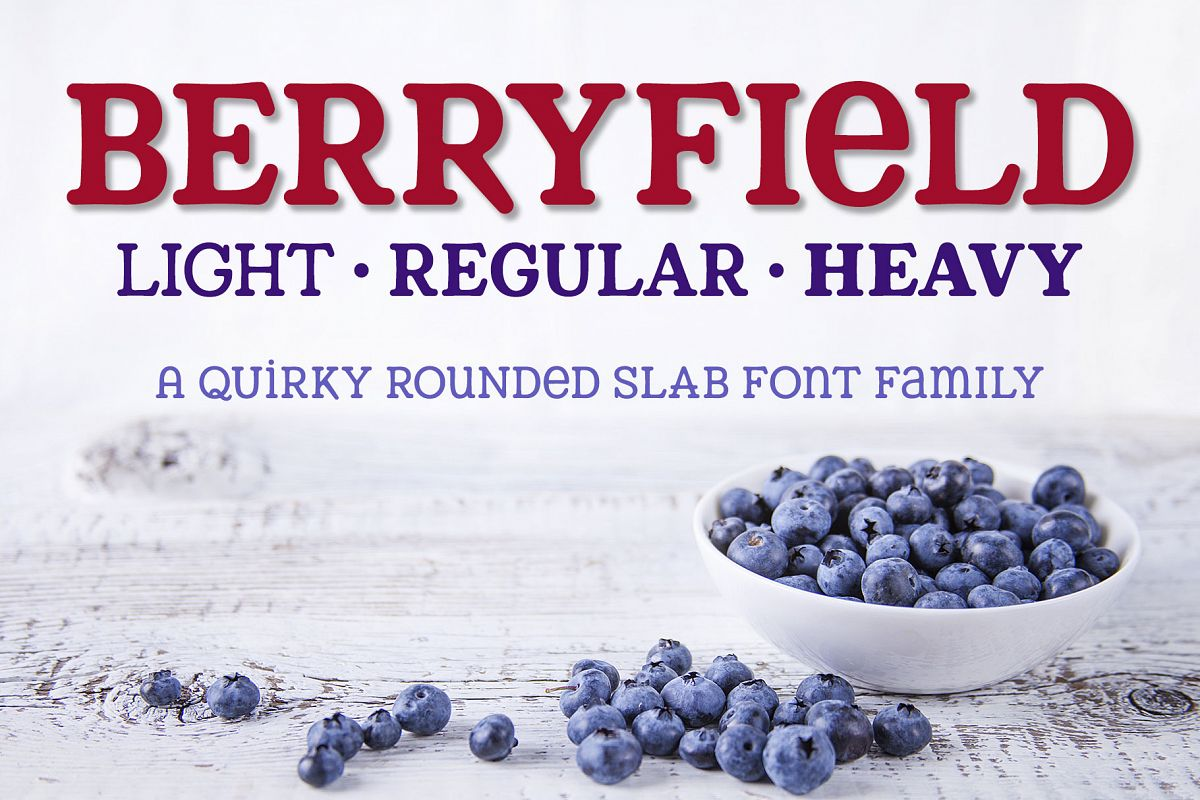 Berryfield - a quirky slab serif font family! example image 1