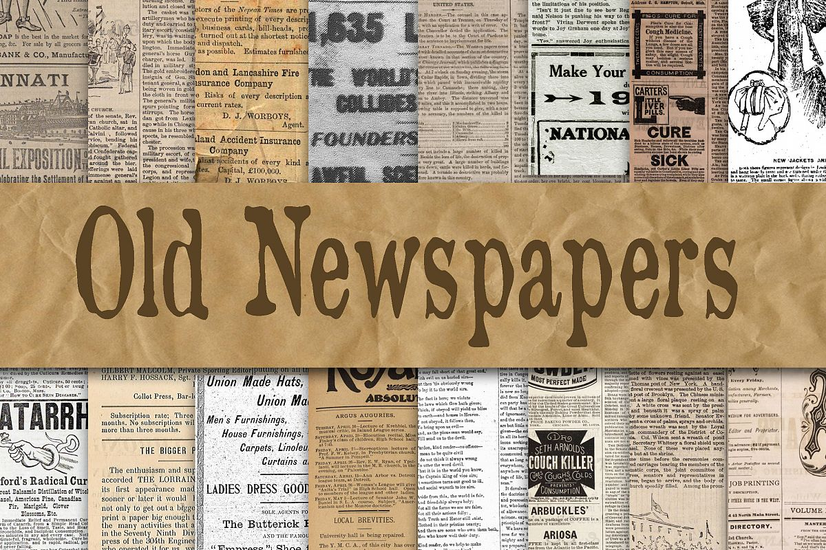 Old Newspapers Digital Paper Textures