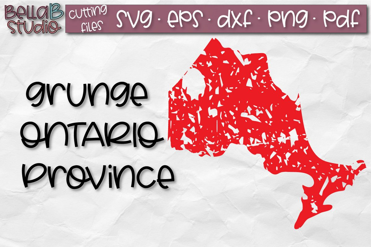 Ontario SVG, Canada SVG, Canadian SVG, Distressed SVG example image 1