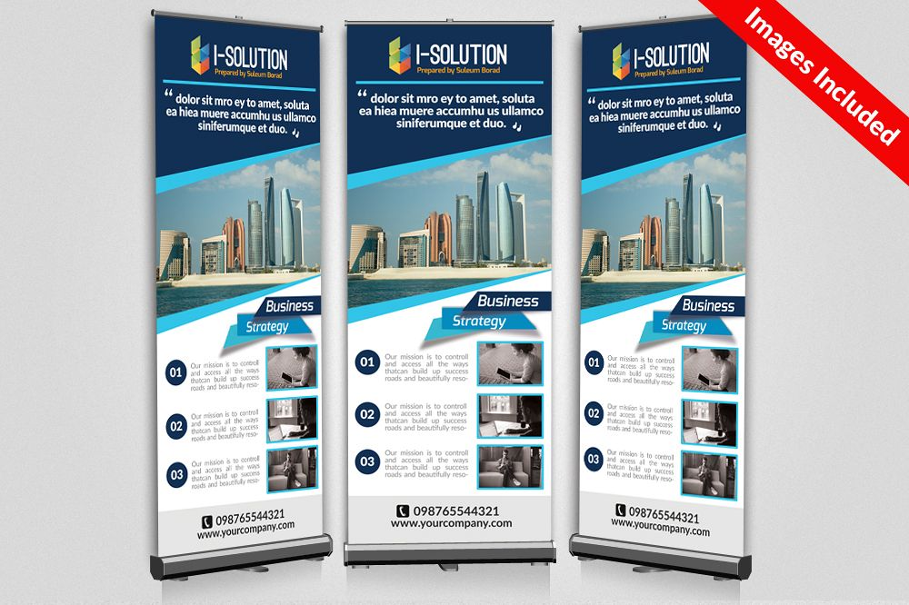 Business Promotional Roll Up Banners example image 1