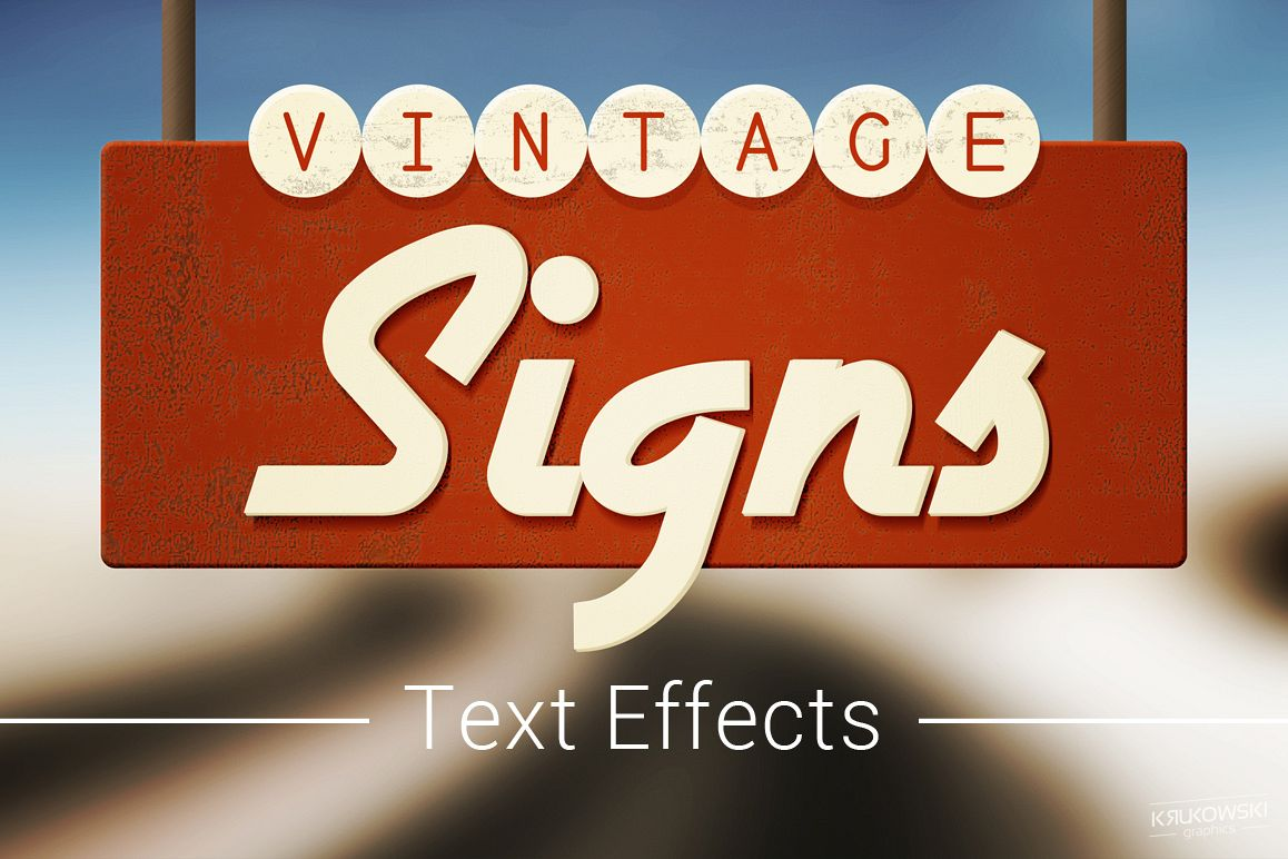 Vintage Sign Text Effects Mockup example image 1