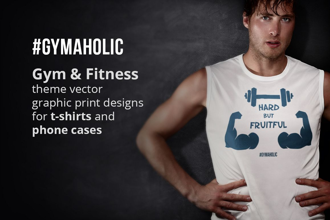 Gymaholic- Gym & Fitness Inspirational Print Designs Pack example image 1