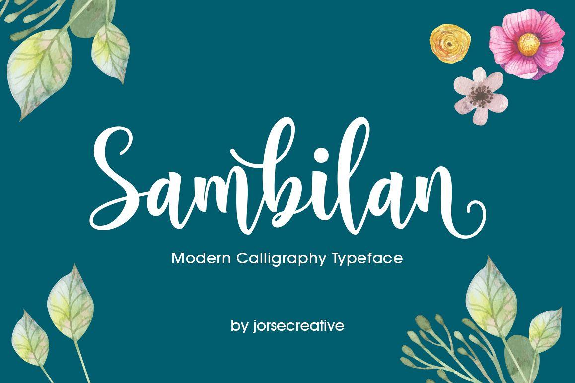 Sambilan Font example image 1