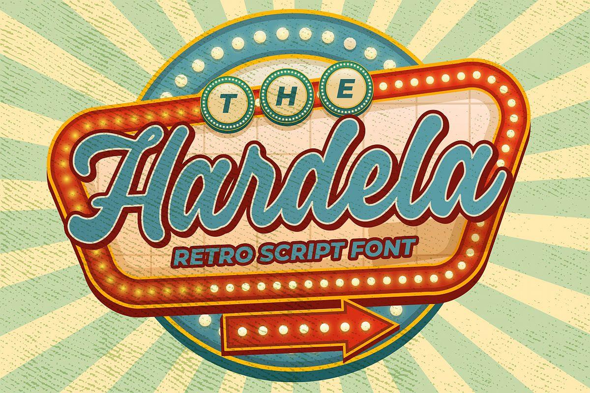 Hardela - Retro Script Font example image 1