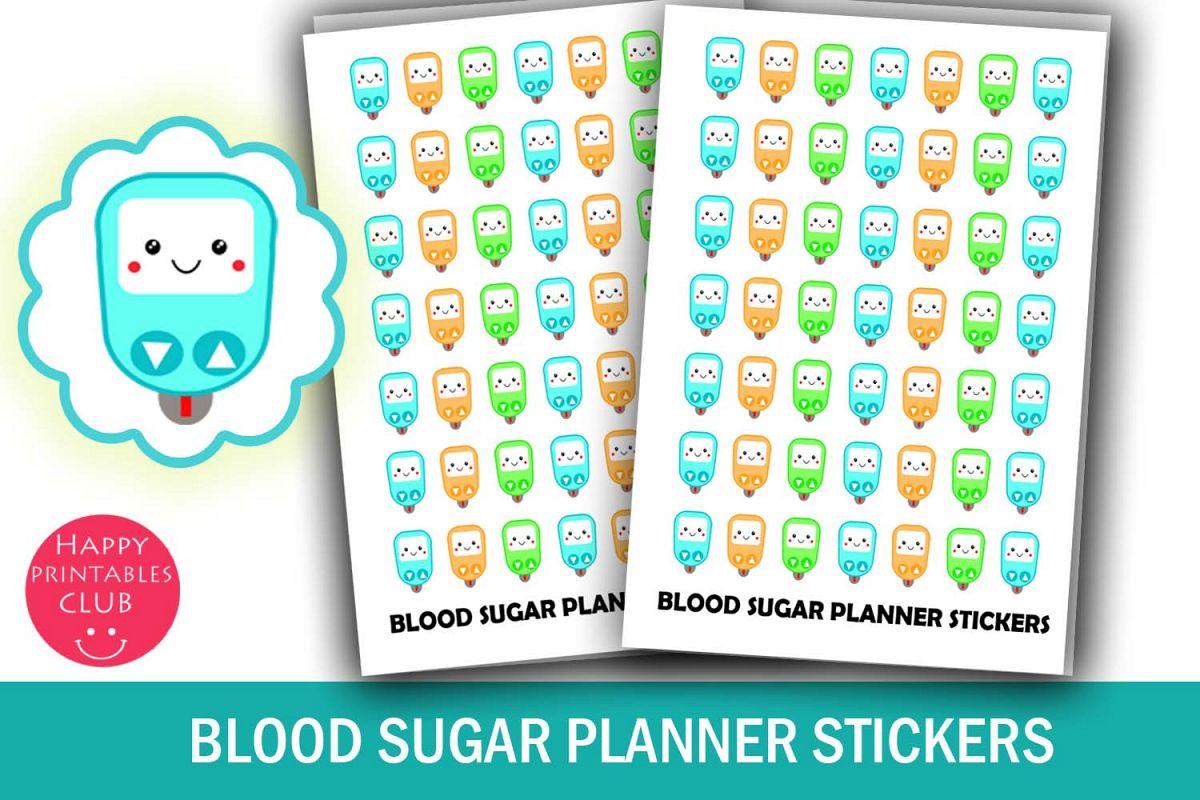 blood sugar planner stickers glucose tracker stickers