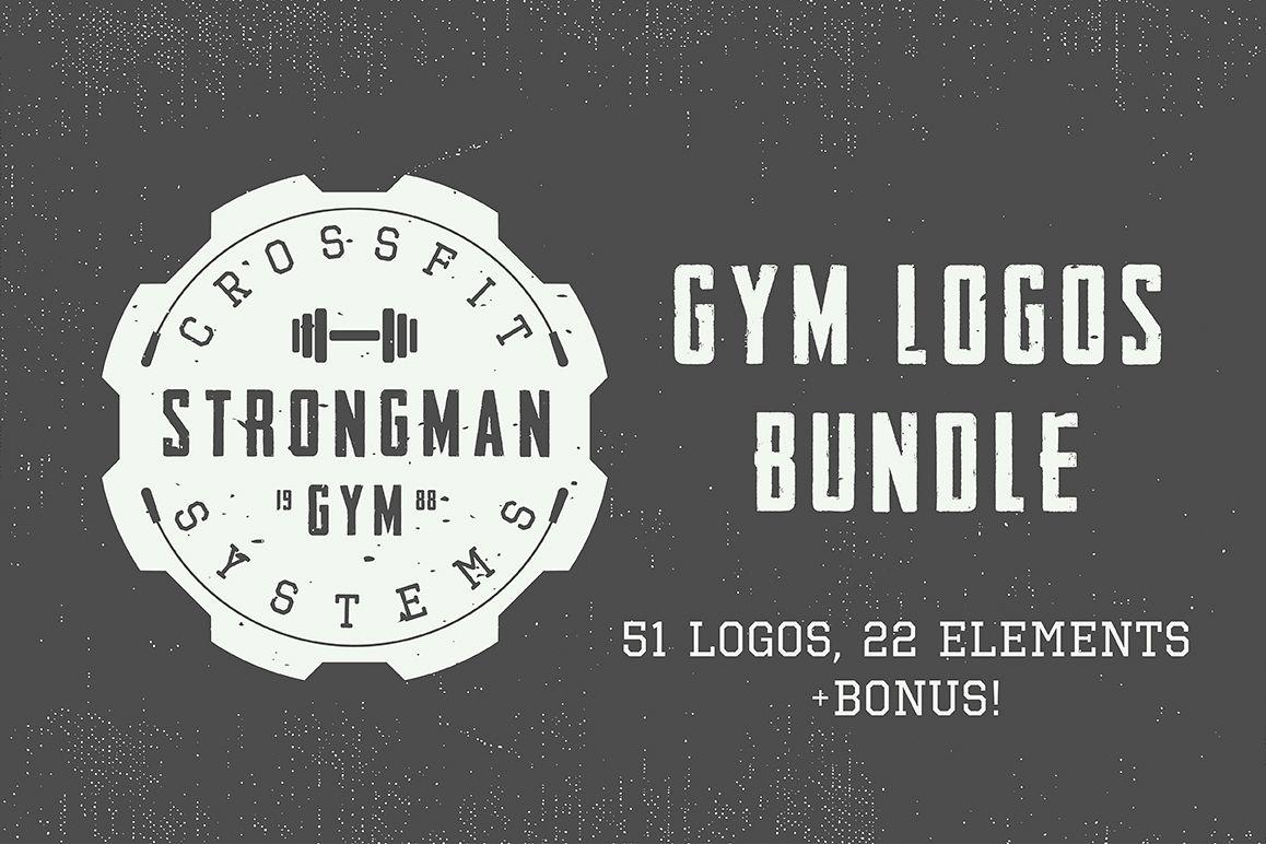 Vintage Gym Emblems Bundle example image 1