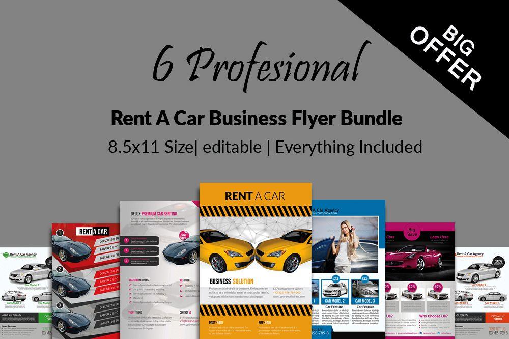 6 Rent A Car Flyers Bundle example image 1