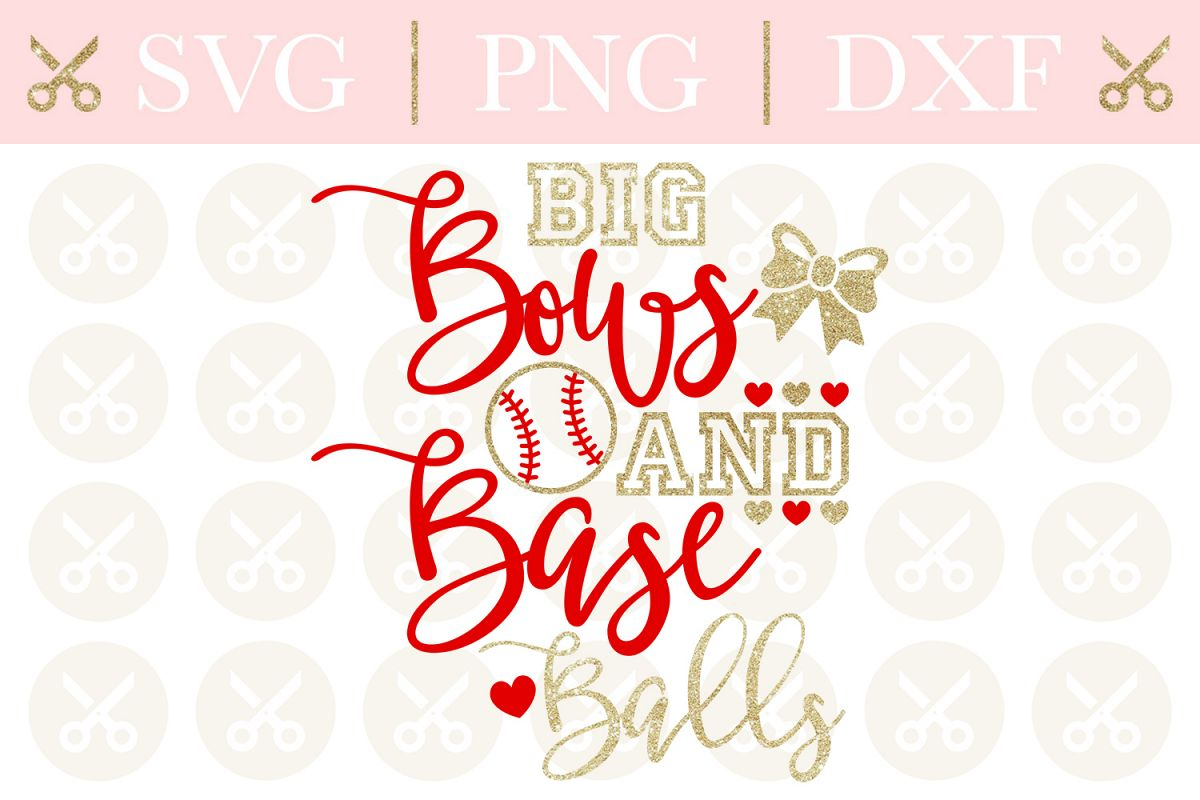 Baseball Svg Big Bows And Baseballs Svg Baseball Sister Svg example image 1
