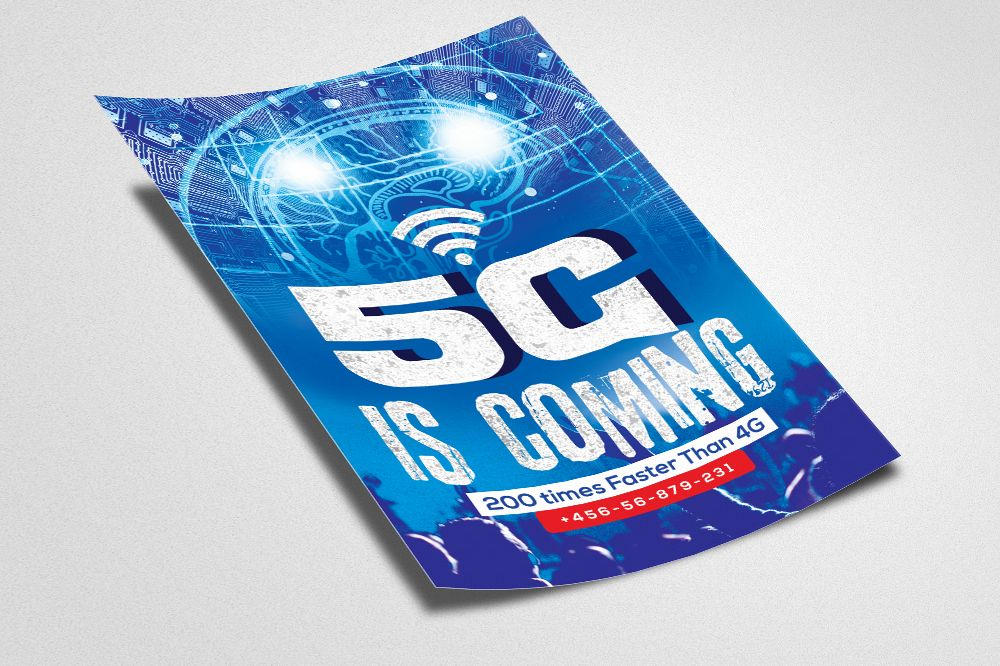 5G Network Flyer Template example image 1