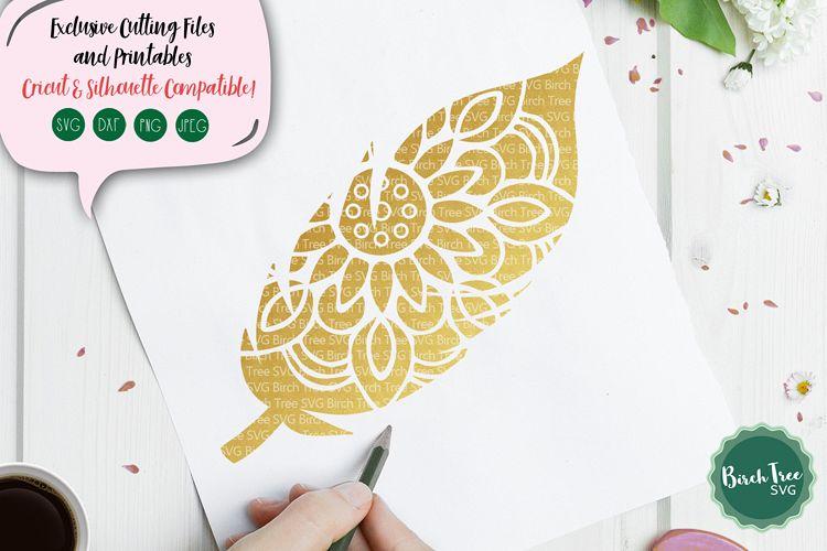 Feather Mandala SVG, Feather Svg, Boho Svg, Feather Cut File example image 1