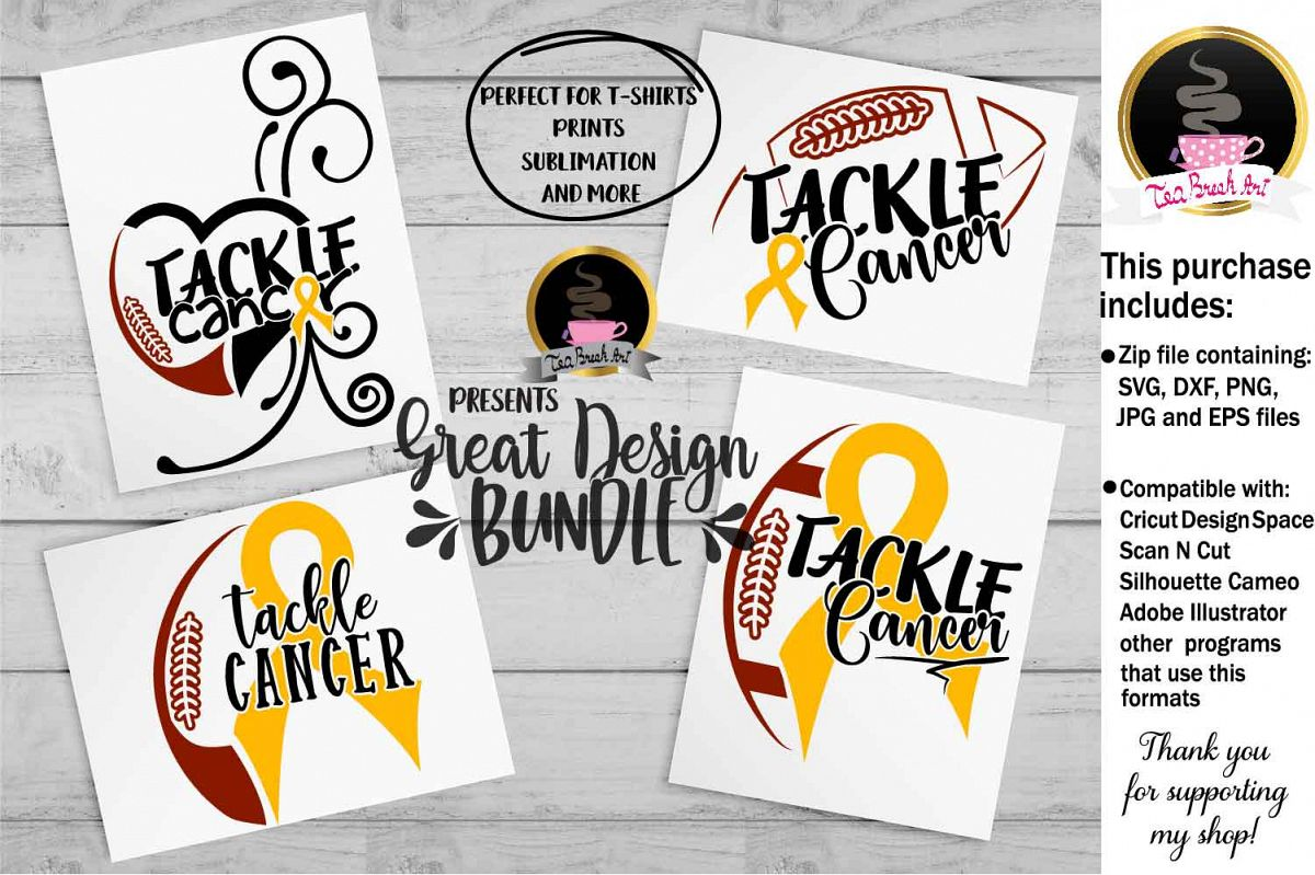 Tackle Cancer Awareness Set Cutting Files 1067 example image 1