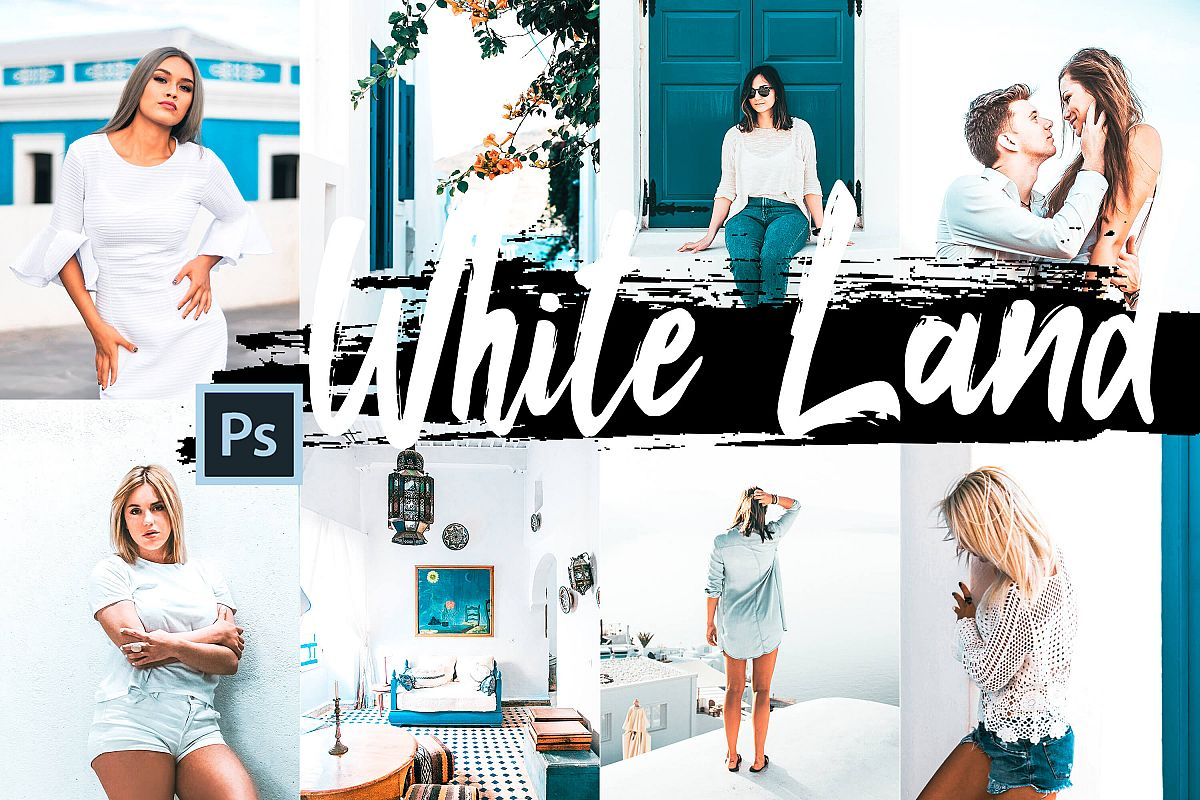 5 White Land Actions, ACR and LUT presets example image 1