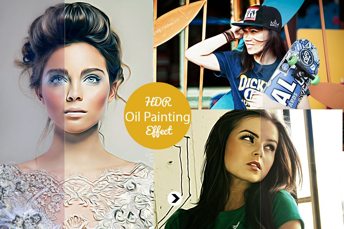 Realistic Pro Oil Painting Effects - Photoshop Action V.2 example image 1
