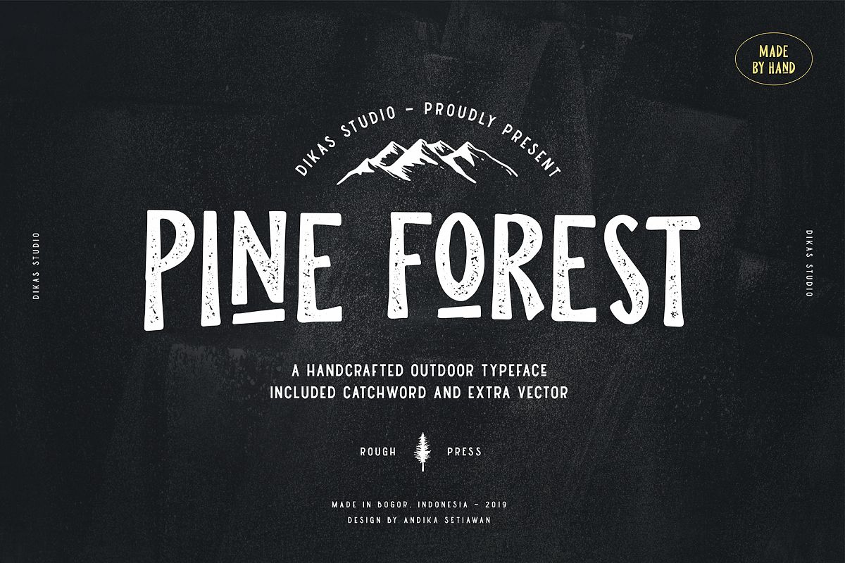 Pine Forest - Outdoor Typeface example image 1