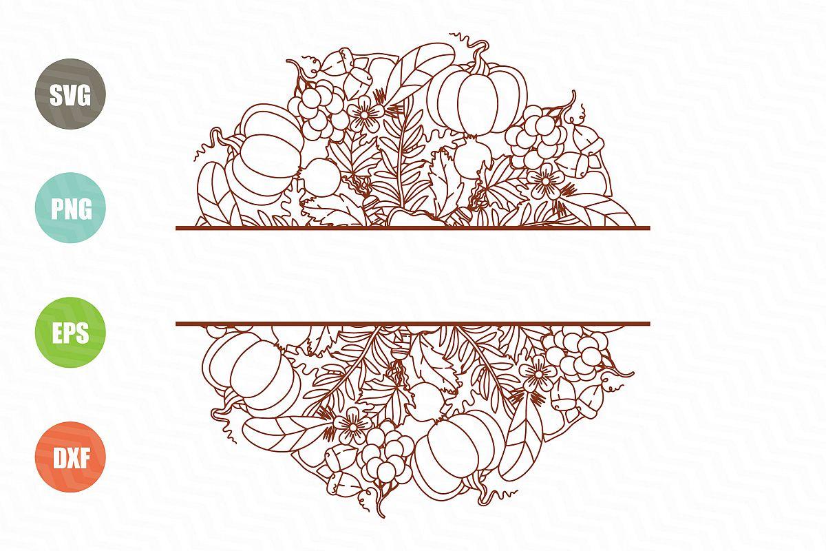 Fall Mandala Monogram SVG example image 1