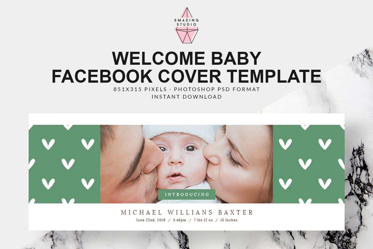 Welcome Baby Facebook Cover - FBC008 example image 1
