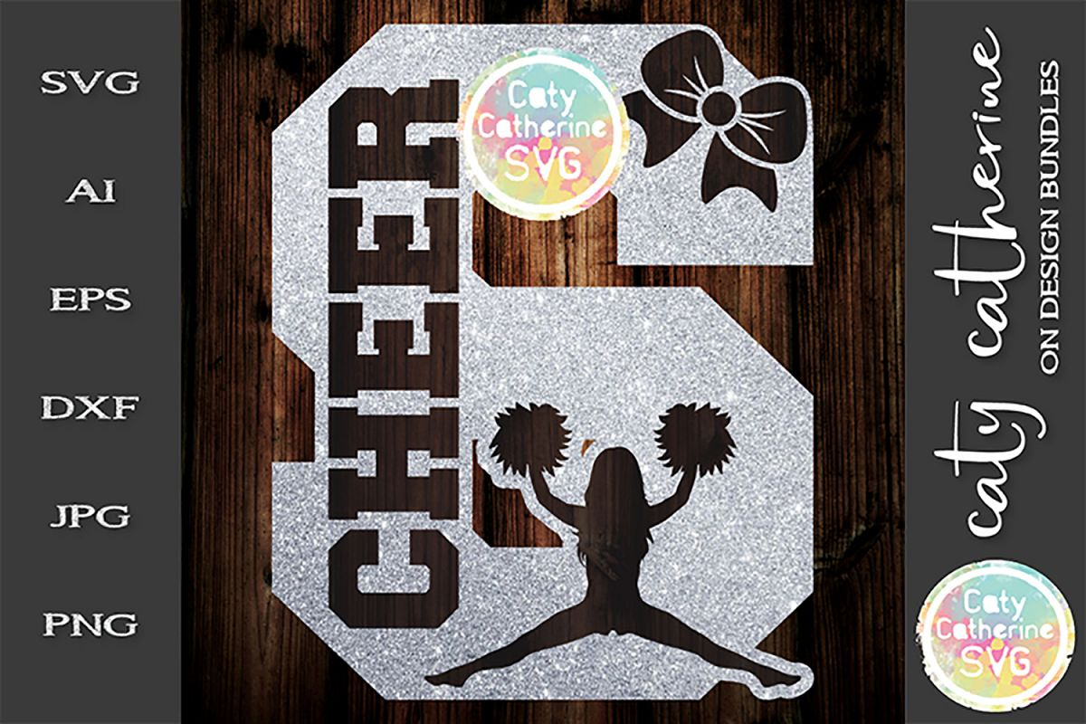 Letter S Cheerleading Monogram Letters SVG Cut File example image 1