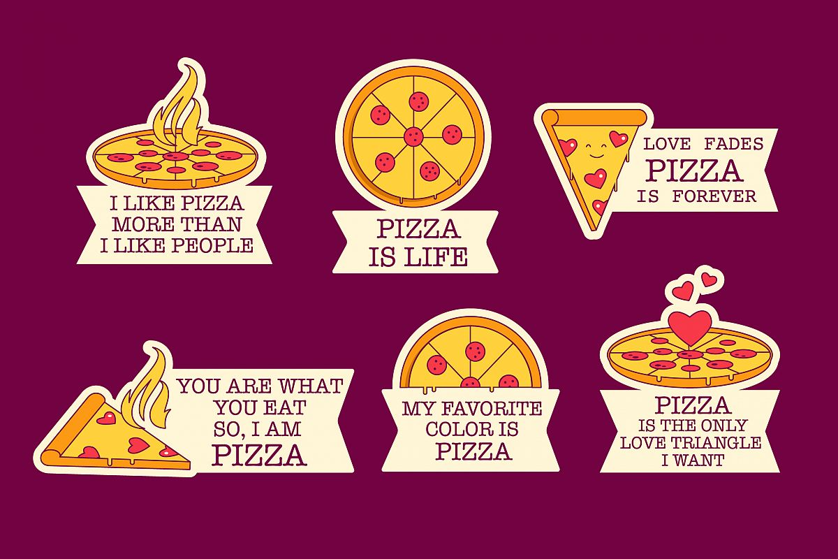 Pizza Lover Badges example image 1