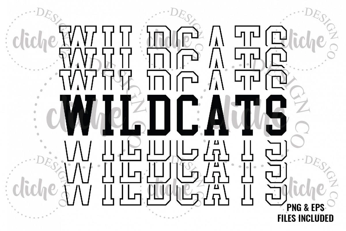 Wildcats Sublimation Design & Bonus Vector Files example image 1