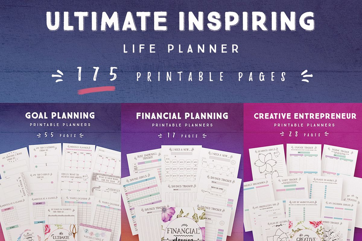 Ultimate Inspiring Life Planner -175 Pages example image 1