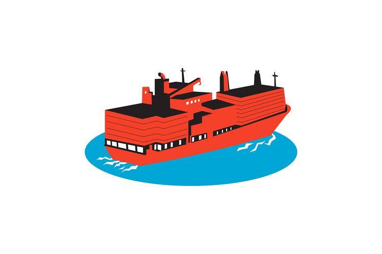 container cargo ship retro example image 1