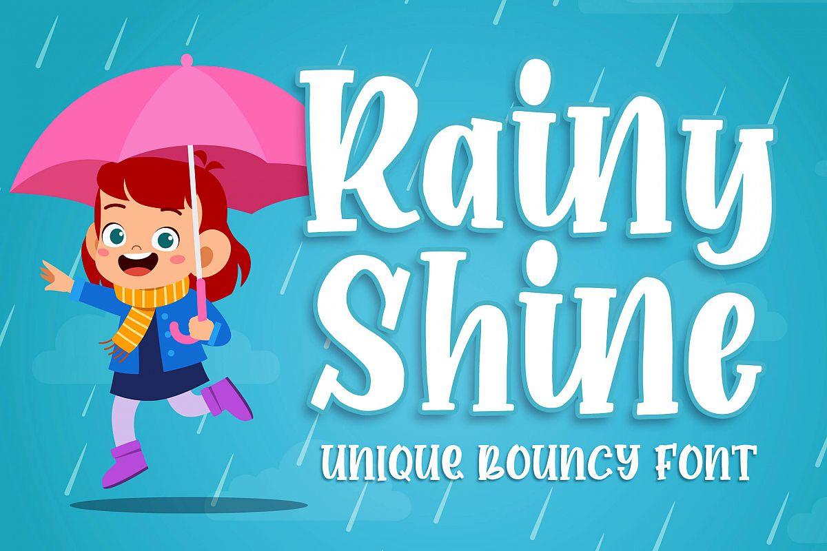 Rainy Shine - Unique Bouncy Font example image 1