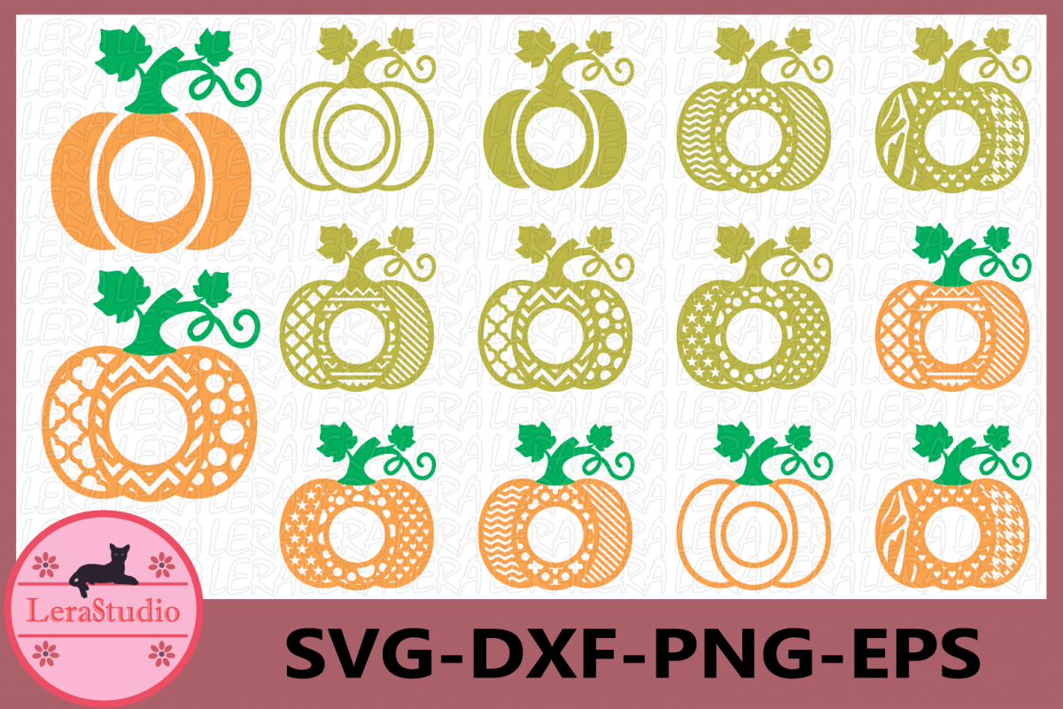 Pumpkin Monogram SVG, Halloween Pumpkin SVG, Pumpkin Pattern example image 1