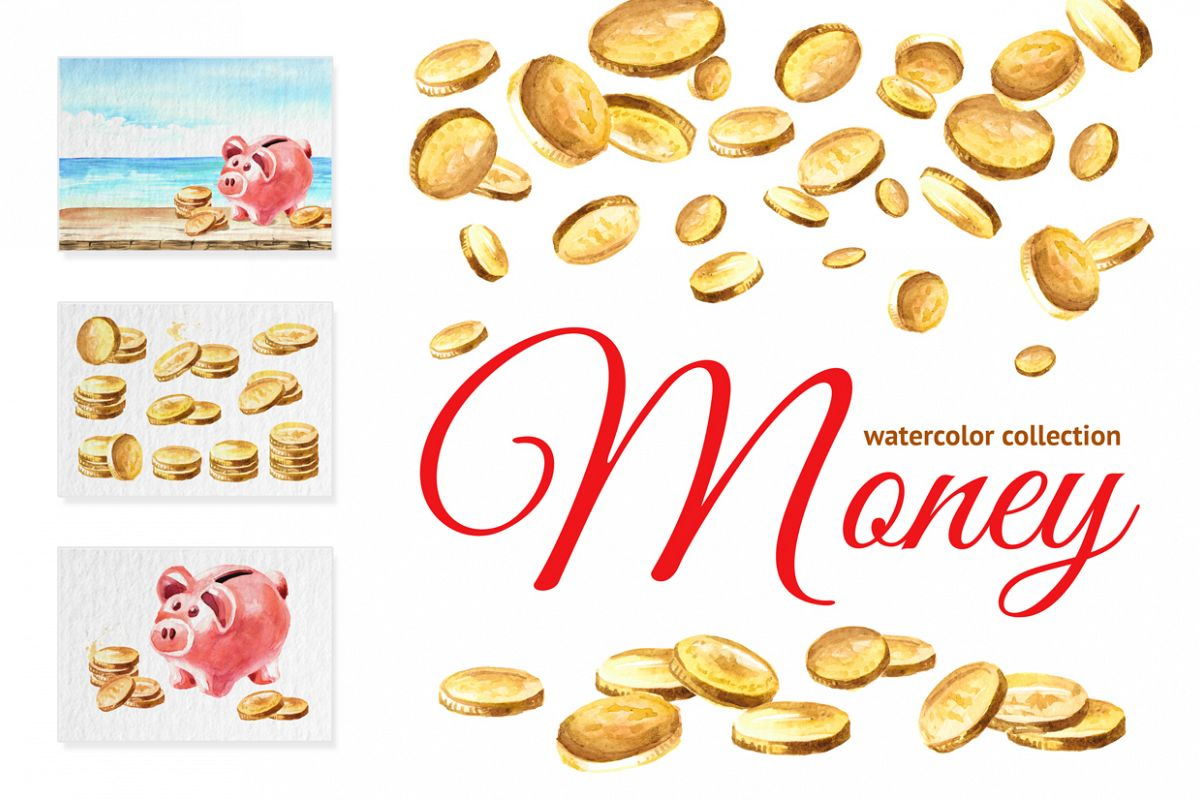 Money. Watercolor collection example image 1