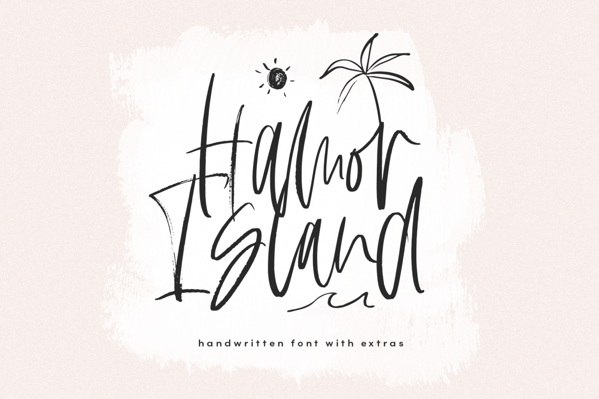 Hamor Island - Handwritten Script Font with Extras example image 1