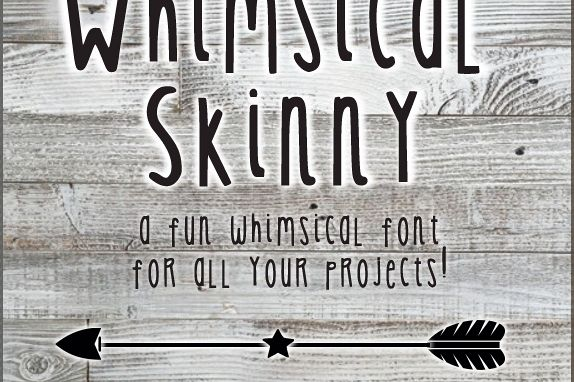 Whimsical Skinny Font example image 1