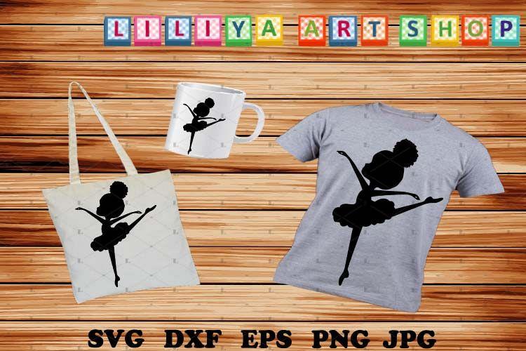 Afro Ballerina silhouettes, Ballerina svg,Black history svg example image 1