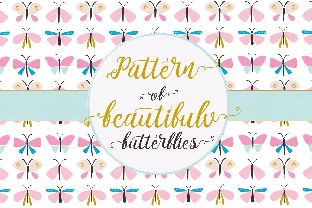 Beautiful butterflies pattern example image 1