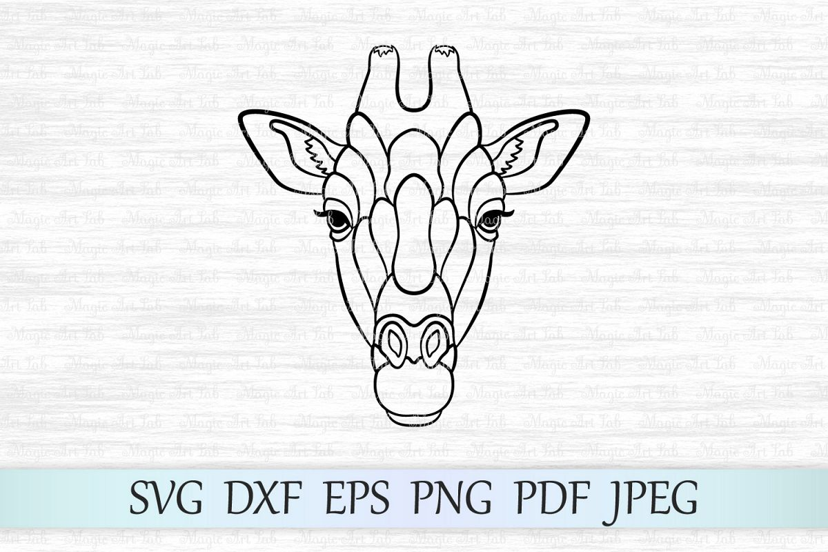 Giraffe svg, Giraffe face svg, Giraffe Cut File, Zentangle example image 1