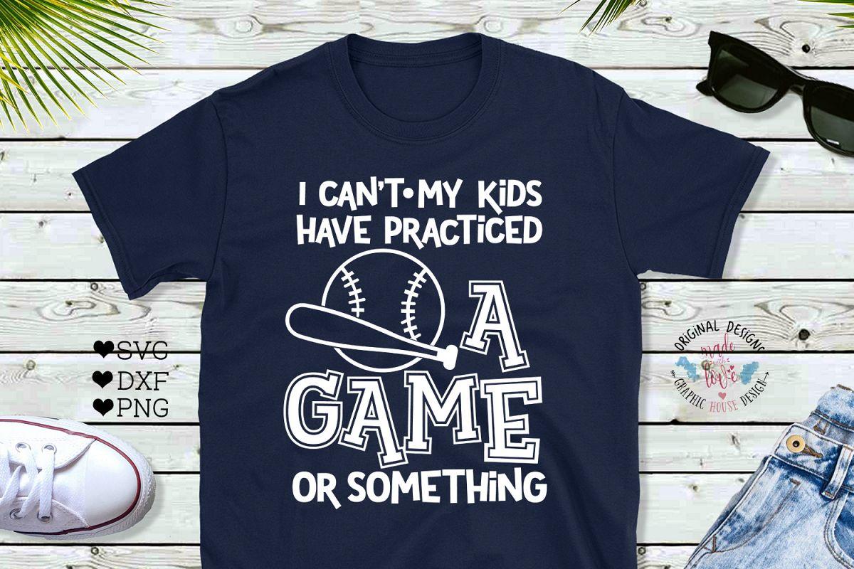 Baseball Mom Funny Cut File example image 1