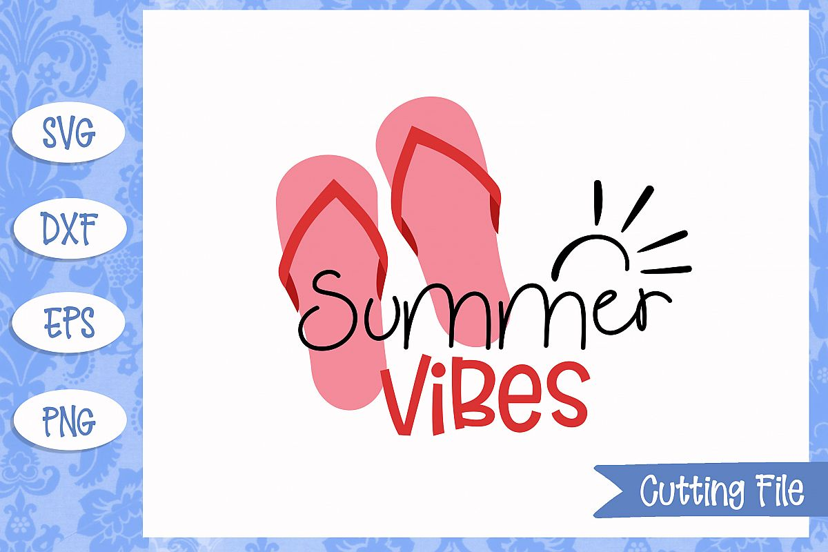 Summer vibes, summer SVG File example image 1